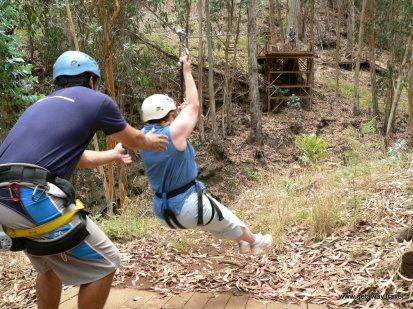 Ziplining on Maui
