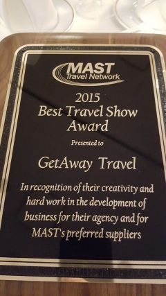 "Best Travel Show Award 2015 for our ""Afternoon in Italy"""
