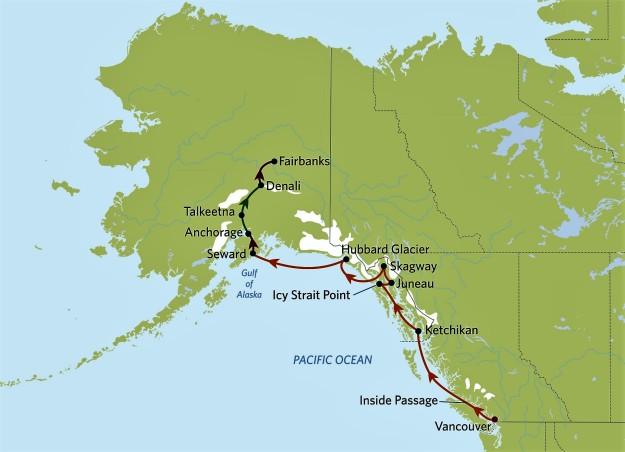 Alaska Cruise Tour Itinerary